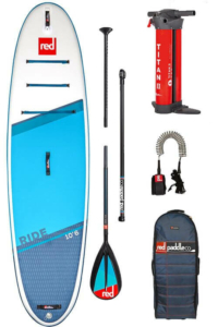 red paddle ride supboard