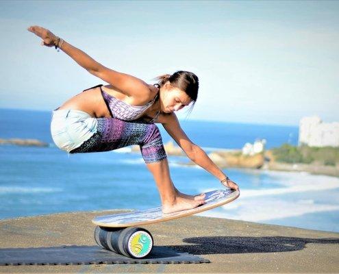 je balans trainen met een balance board
